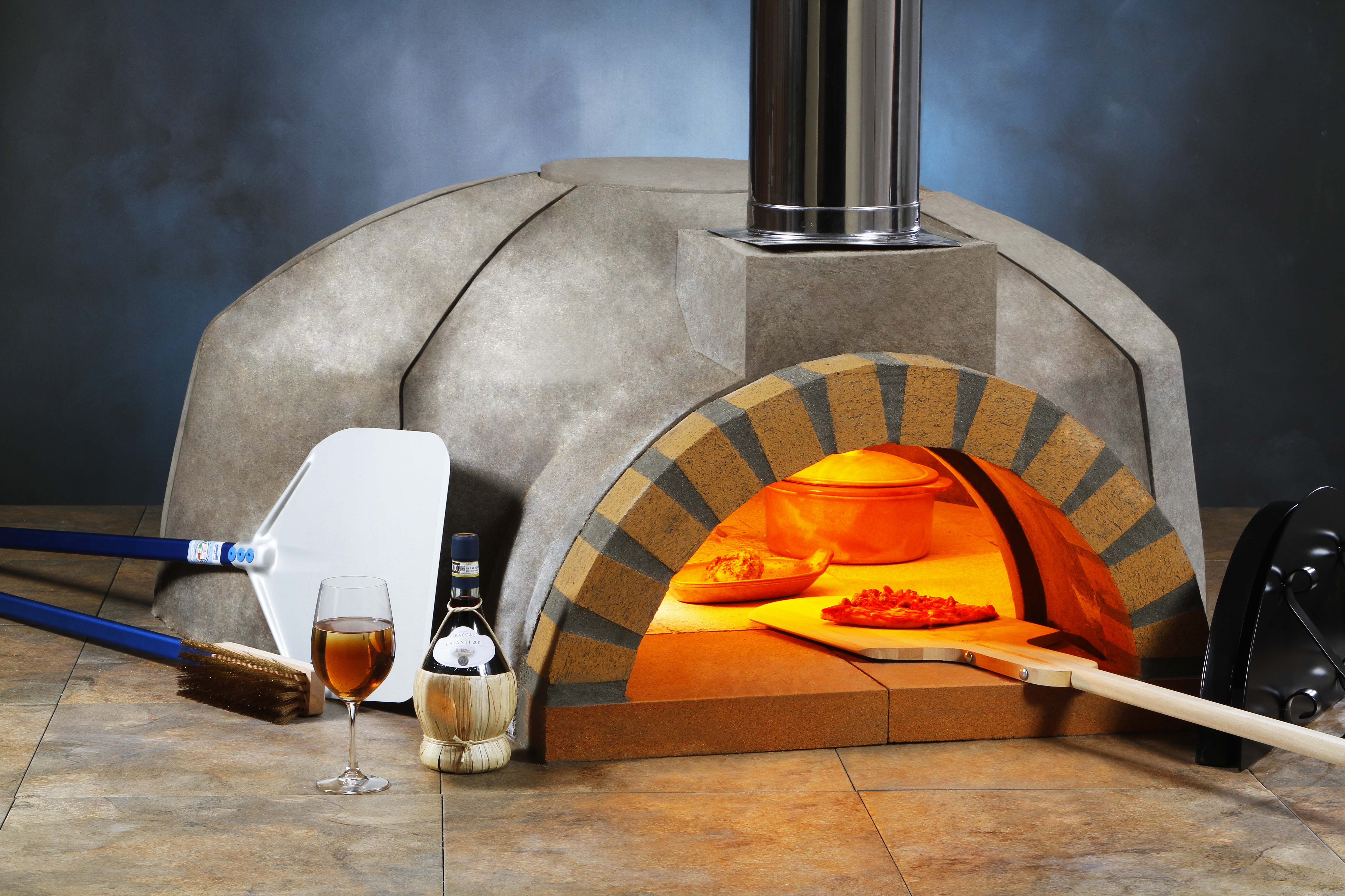 commercial wood gas fired pizza oven large. Black Bedroom Furniture Sets. Home Design Ideas